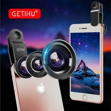 Universal Fish Eye 3in1 + Clip Fisheye Smartphone Camera Lens Wide Angle Macro Mobile Phone Lents For iPhone 7 6 5 4 Smart Phone(China)