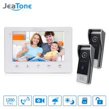 "JeaTone Home Security Video Intercom 7"" Color Video Door Phone IR Night Vision Camera Kit for Home Apartment Intercom System(China)"