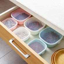 LASPERAL Kitchen Food Plastic Storage Box Sealed Crisper Grains Tank Storage Kitchen Sorting Food Storage Box Airtight Container