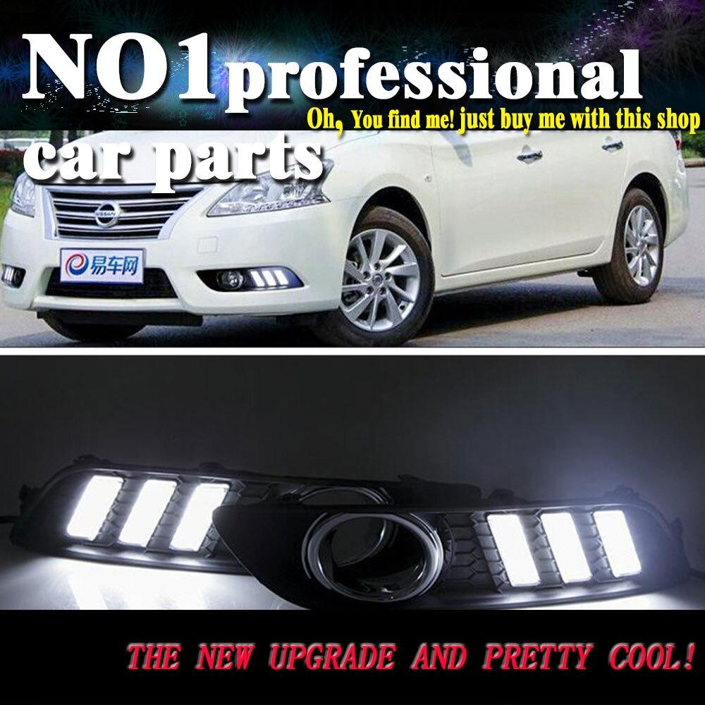 car styling For Nissan Sentra Sylphy LED2012 2015 DRL led fog lamps daytime running light High brightness guide LED DRL<br>