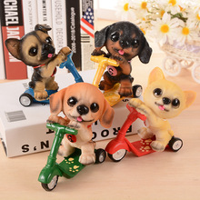 Sliding Plate Pet Dog Mini Resin Craft Animal Ornament Home Accessories Dog Resin Craft Supplies Handicraft Furnishing Articles