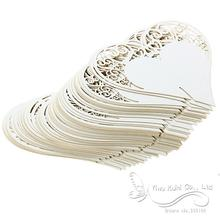 Wedding Table Decoration Place Cards/Wedding Party Decoration Laser Cut Heart Floral Wine Glass Place Cards(China)