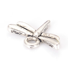 20 Pcs Antique Design Beads Antique Silver Dragonfly Small Pendant Charm For DIY Jewelry Making Accessories