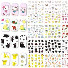 48 Sheets Cartoon Nail Art Water Transfer Stickers Mixed Nail Tips Decals Beauty Manicure Decoration Accessories BEA1321-1368