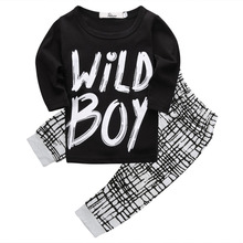 2017 Spring Summer baby boy clothes Long sleeve Top + pants 2pcs sport suit baby clothing set newborn infant clothing bebe