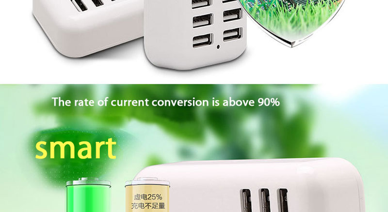 LEPHEE 6 Ports USB Charger For iPhone iPad Samsung Multiple Wall Charging 5V/4A EU Plug Adapter Connector Universal Mobile Phone