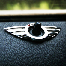 OTOKIT 2pcs/lot Car Styling Emblem Wing I LOVE MINI Sticker Decoration for BMW MINI Cooper R55 R56 R57 R58 R59 Door Lock Knob