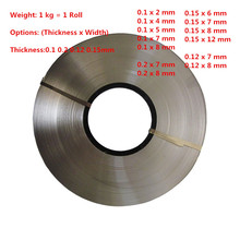 1kg/roll Thickness 0.1mm 0.2mm 0.15mm 0.12mm Nickel Plated Steel Strap Strip Sheets 18650 battery spot welding(China)