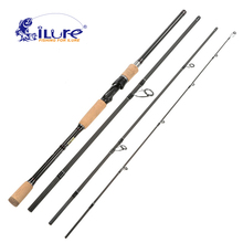 iLure 2017 NEW Casting Spinning rod 2.1m 2.4m 2.7m 3.0m Telescopic carbon fishing rod 4 sections travel pole Feeder rod Pesca(China)