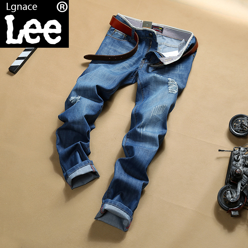 New 2017 famous brand men jeans  Male straight young baggy jeans   long man trousers  male pants  jeans for men denim pants Y427Одежда и ак�е��уары<br><br><br>Aliexpress