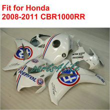 Fairing kit for HONDA injection mold CBR1000RR fairings 2008 2009 2010 2011 white blue REPSOL aftermarket CBR 1000 RR 08-11 RT72