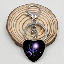 Buy 12 Constellation Leo Virgo Heart Key Chains Glass Cabochon Pendant Zodiac Sign Key Rings Silver Plated Bag Pendant Birthday Gift for $1.13 in AliExpress store