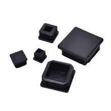 10Pcs Black Plastic Blanking End Caps Square Inserts For Tube Pipe Box Section Furniture Accessories Wholesales(China)