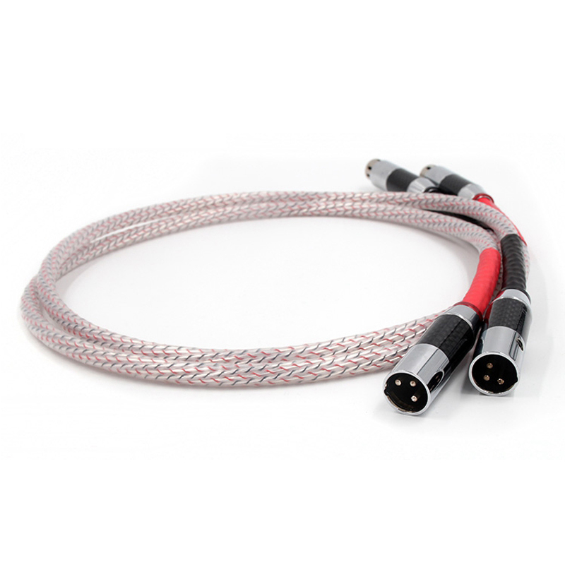 Valhalla Series XLR Interconnect Cable with carbon fiber XLR connector plug