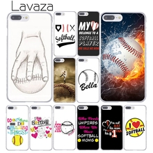 Lavaza Fire Yellow Softball baseball And Water Hard Cover Case for Apple iPhone 8 7 6 6S Plus 5 5S SE 5C 4 4S X 10 Coque Shell(China)