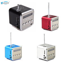 TD-V26 Mini Portable Speaker Micro SD TF Speakers Music Player MP3 FM Radio USB Stereo PC For MP4 Computer(China)