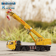 KaiDiWei Heavy cranes 1:55 alloy origin truck model lifting cranes  kids toy Christmas gift free shipping boy