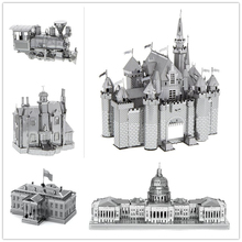 sleeping beauty castle/Himeji Jo/Brooklyn Bridge Originality puzzles 3D Metal model Originality Nano Stainless steel DIY