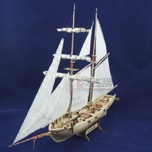 LOVE MODEL Free shipping 1/100 Scale Wooden Sailboat Halcon1840 Model Ship + Brass updates kits