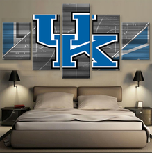 5 Pieces/Set KENTUCKY WILDCATS On Canvas Sport Painting Unique Wall Art Modern Abstract Art Deco Picture Painting(China)