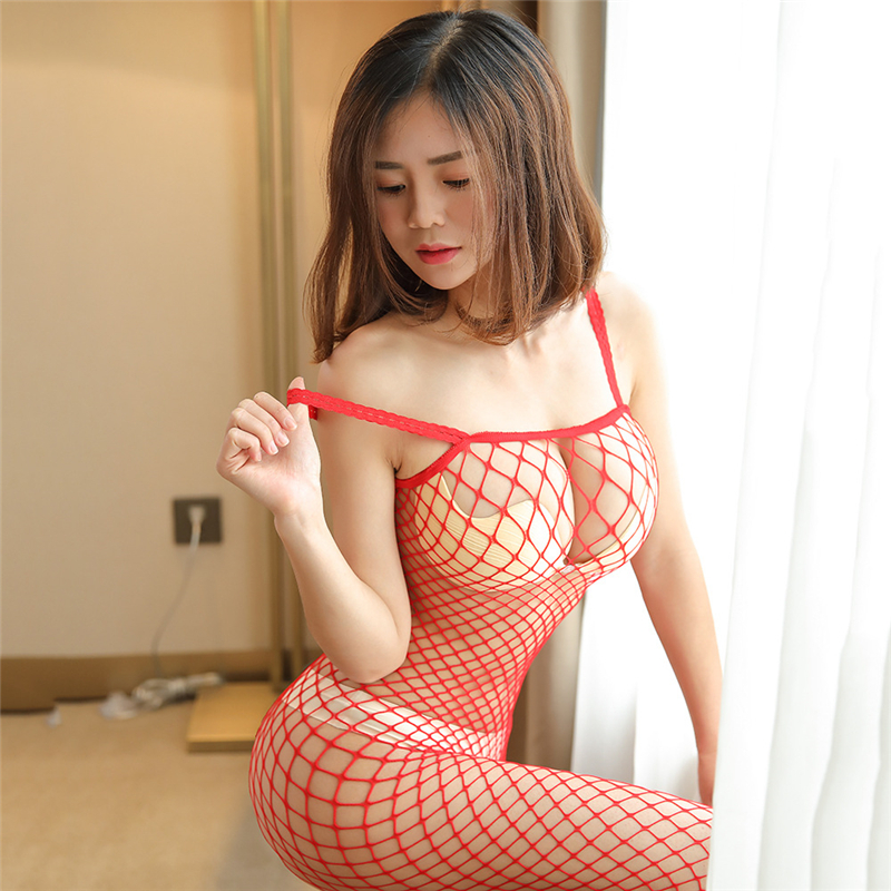 Free shipping!!!Best-selling sexy underwear Multicolor Siamese super sexy perspective stockings Sling Open erotic lingerie(China)