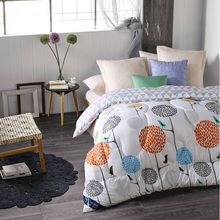 Winter comforter Microfiber edredon Quilted thicken bedding comforter printed edredom keep warm winter quilts king size duvet(China)