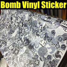 Cool Bomb Vinyl Car Auto Sticker Bomb Wrap Funny Cartoon Phone Laptop Wall Motorcycle Decal Film Sheet 10/20/30/40/50/60x152cm