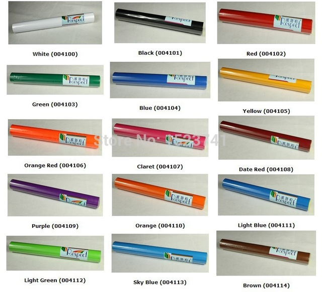 1 Roll Sign Vinyl Sticker for Car Decals Film By Cutting Plotter from 15colors(China (Mainland))
