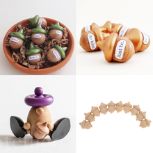 New Hot Decorative 10pcs/set Novelty Waldorf Table Acorns DIY Unfinished Wooden Craft Wedding Party Fall Decoration Accessories