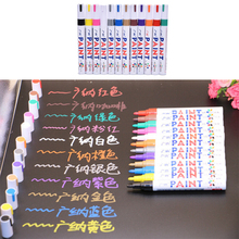 1PC 12 Colors Universal White Car Motorcycle Permanent Tyre Tire Tread Rubber Paint Marker Pen hot selling(China)