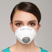 PM2.5 respirator dust mask white air breather carbon filter mask dust Smoke N95 nose filter dust mask 5 piece/bag