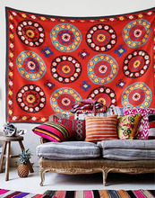 Cilected Endless Hippie Tapestry Mandala Decor Hanging Wall Tapestry Moroccan Decorative Wall Rugs India Beach Bedspread Blanket(China)
