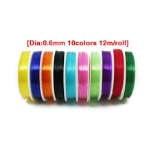 10Colors 120meters/pack Strong Clear Rubber Flat Stretch Elastic String Crystal Cord Thread Jewelry Findings Wire