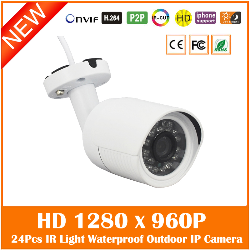 Hd 960p 1.3mp Bullet Ip Camera Outdoor Security Onvif Waterproof Night Vision 24pcs Infrared Lights Surveillance Freeshipping <br>