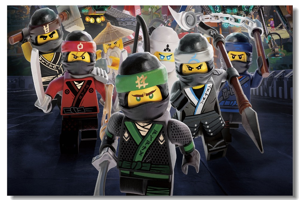 Custom Canvas Wall Mural Lego Movie Poster Lego Ninjago Wallpaper Anime Cartoon Wall Stickers Dining Room Decoration #0786#
