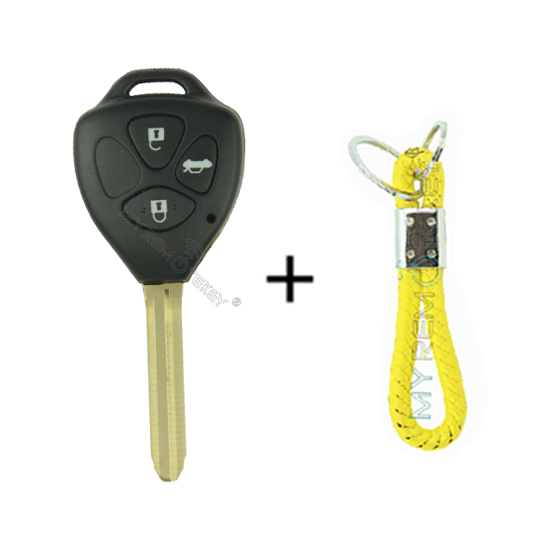 Remote key TOY43 3 button with 4D67 chip 433 mhz for Toyota Camry car key 2006 2007 2008 2009 2010<br><br>Aliexpress