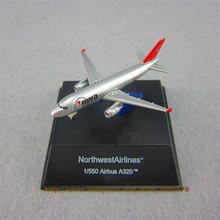 7cm Metal Alloy Plane Model American Air NWA NorthWest Airlines Airbus 320 A320 Airways Airplane Model w Stand Aircraft