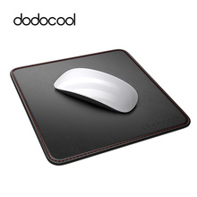 "dodocool 2-in-1 Gaming Mouse Pad Carrying Case PU Leather Surface Non-slip Base Stitched Edges 7.48"" x 7.48"" Gamer Mouse Mat(China)"