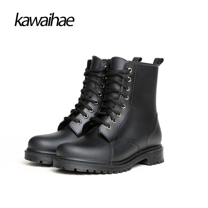 2017 Rubber Shoes Comfortable Rain Boots Waterproof Fashion Knight Riding Boots Women Boots Brand Kawaihae Y809<br>