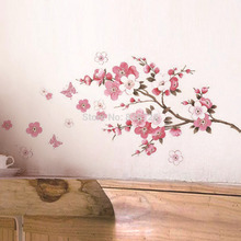 2016 Hot Home Decor Room Wall Stickers Pink Cherry Screen Posters Newly Bedroom Accessories Mural adesivo de parede para quarto