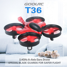 GOOLRC Scorpion T36 2.4G 4CH 6-Axis Gyro 3D-Flip Anti-Crush UFO RC Quadcopter RTF Drone Great Remote Helicopter Toys VS H36
