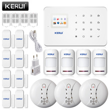 KR-G18 Phone APP Control Wireless Residential Conmercial Alert System Chime Sensor GSM Alarm Home Security Voice Prompt Smoke