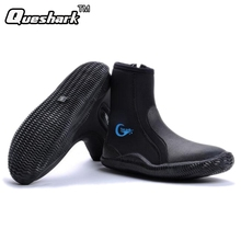 5MM Neoprene Vulcanization High Upper Scuba Dive Boots Diving Socks Anti-slip Keep Warm Beach Shoes Fishing Winter Swimming Fins