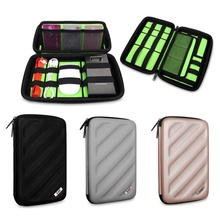 Hot Sales Factory Price! Cable pouch organizer bag for USB Flash Drive Cable Memory Card HDD Case Travel Storage Bags