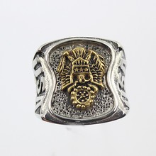 High quality Mens stainless steel US Army Ring Gold Silver Plated Military Army Signant Ring
