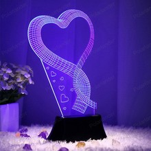 Dimensional lighting bedroom living room ambience light LED personalized lamp romantic Multi-Colors 3d creative lights
