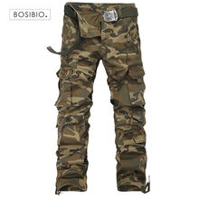 Military Tactical Cargo Pants Mens Long Full Length Camouflage Army Green Multi Pockets 2017 New Spring Big Size 29-38 - M-zone Store store