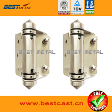 2 Pieces Mirror polish 316 Stainless steel Self Closing Hinges of glass to FLAT  for glass swimming pool fencing