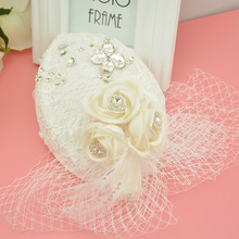 Mini Hat White Lace Fascinator Flower Hair Clip Wedding Hats And Fascinators Bridal Hair Acessories Chapeu Casamento WIGO0524