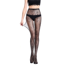Buy Style Sexy women's tights Stockings Black Elastic Pantyhose Ladies mesh Stockings Lingerie Female Thigh High Stocking WK07